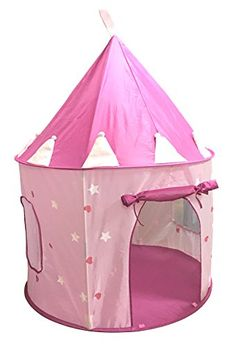 SueSport Girls Pink Princess Castle Play Tent Children P... /  sc 1 st  Pinterest & Girls Pop Up Tent Castle Playhouse Wendy House Pink Indoor-Outdoor ...