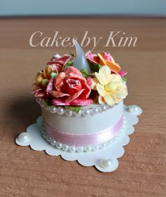 Floral Tea Light Cake (made by Kim)
