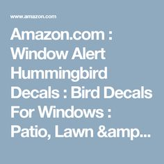 Burgess Seed And Plant Co Best Place For Plants ZONE Plants - Window alert hummingbird decals amazon