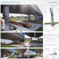 Highway architecture, space architecture, project for public spaces, parasi Landscape And Urbanism, Landscape Elements, Landscape Design, Concept Models Architecture, Space Architecture, Highway Architecture, Project For Public Spaces, Parasitic Architecture, Under Bridge