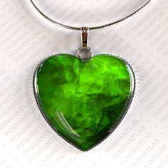 Green Heart Pendant Green Heart Heart Pendant Heart by PendantLab, $14.95