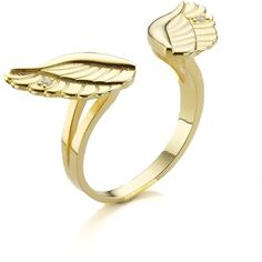 Aamaya By Priyanka Gold Plated Wing Ring ($235) ❤ liked on Polyvore featuring jewelry, rings, accessories, gold, aamaya by priyanka, indian jewelry, gold plated jewelry, adjustable rings y gold plated jewellery
