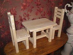 Купить Набор мебели для кукол. - бежевый, заготовки для творчества, заготовки из дерева, заготовка для росписи