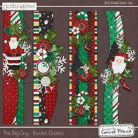 The Big Guy - Christmas Border Clusters Christmas Scrapbook Layouts, Scrapbook Borders, Scrapbook Designs, Scrapbook Embellishments, Scrapbook Sketches, Scrapbook Page Layouts, Scrapbook Paper Crafts, Scrapbook Cards, Christmas Border