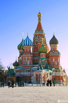 The St Basil's Cathedral on Red Square in Moscow.