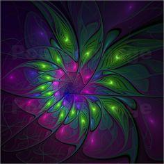 Fraktal Neon Fun Poster von gabiw Art