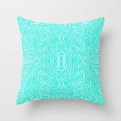 Radiate (Mint) Throw Pillow by Jacqueline Maldonado - $20.00
