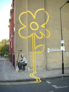 Latest Banksy Pollard Street: Portrait of the Artist??? by eddiedangerous, via Flickr
