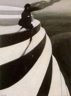 Léon Spilliaert, Vertigo (Magic Staircase), 1908.