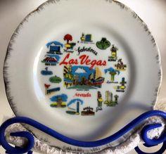 Las Vegas Souvenir Plate Pre-1973 Rat Pack Hotels Sands Thunderbird, Landmark, Stardust Timeless Kitchen, Las Vegas Nevada, Sands, Pie Dish, Dinnerware, Plates, Tableware, Handmade Gifts, Etsy