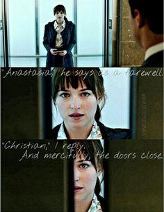 Fifty Shades of Grey - Movie Still #BookQuote - Anastasia Steele Christian Grey