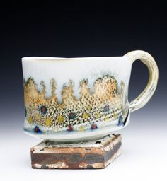 Wood Fired Porcelain Hand Built  Brook Trout Mug with by markchuck, $85.00