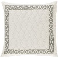 #01 Quilted Ivory Linen w/ Natural Florence Tape Pillow