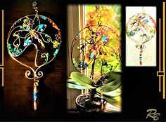 Butterfly, suncatcher, garden decoration,opper,gemstones,mother,wife,duaght Tree Agate, Deck Decorating, Hippie Home Decor, Window Art, Fashion Jewelry Necklaces, Wire Art, Gifts For Husband, Couple Gifts, Suncatchers
