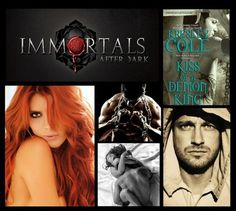 Kiss of a Demon King part of Immortals After Dark Series by Kresley Cole / Fantasy / Romance & Love Collage Book, Book Art, Immortals After Dark, Kresley Cole, Dark Books, Christine Feehan, Demon King, Romance And Love, Fantasy Romance