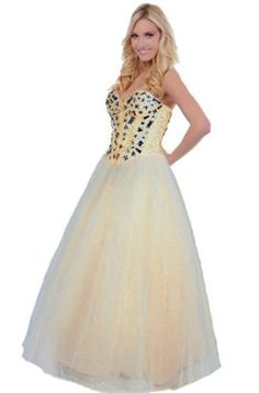 Faironly Xs1 Sweetheart Formal Party Prom Dress Gown , Yellow,