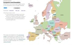 This Translator Map Is A Cool Way To Teach European Geography & More