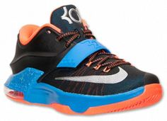 KD 7 OKC Away Black Photo Blue Metallic Silver 291fd12f863c