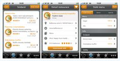 Takeme.nu - user interface design - iPhone mobile application - Screens