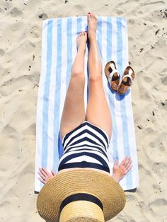 Graphic stripe one piece bathing suit, best stripe one pieces, & other stories