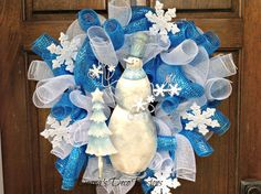 Hey, I found this really awesome Etsy listing at https://www.etsy.com/listing/171434703/snowman-deco-mesh-wreath
