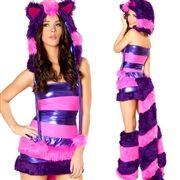 pink and purple Cheshire Cat Costume