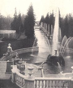 St. Petersburg 1900, Photo 31 Peterhof Palace the Fountains, a Petersburg Travelogue by Bob Atchison