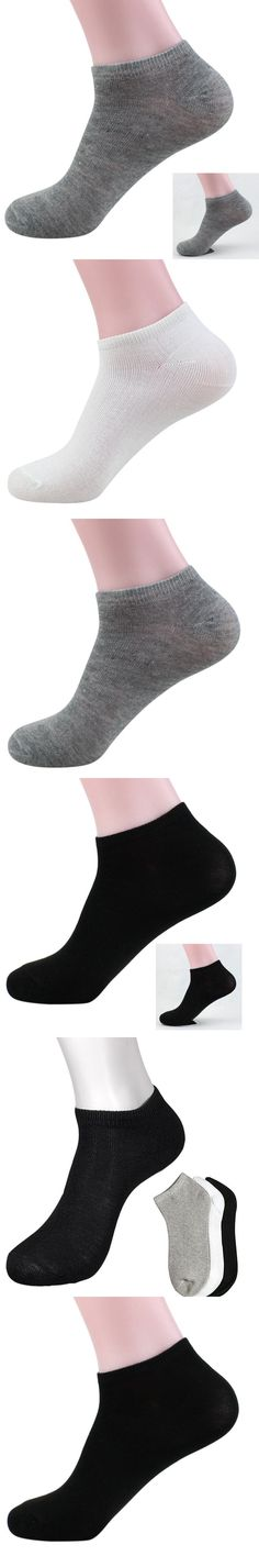 Men Women Ankle Socks Solid Color Polyester Casual Low Cut Socks