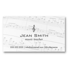 20 Best Piano Teacher Business Cards images in 2013