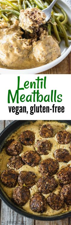 These flavorful Lentil Meatballs (Vegan, Gluten-Free) are smothered in a creamy cashew gravy will surely be a big hit at your dinner table especially during the holidays! #vegan #glutenfree #lentils