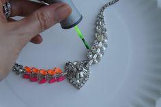 DIY Neon Nail Polish Necklace