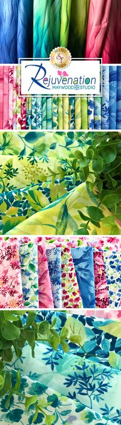 Rejuvenation is a vibrant collection from Maywood Studio available at Shabby Fabrics. Quilting Projects, Sewing Projects, Maywood Studio, Shabby Fabrics, Prayer Flags, Craft Accessories, Fabric Online, Pallet Furniture, Baby Quilts