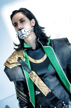 Me as Loki at the Leipzig Bookfair 2013  Picture taken by Horitsu  Costume, Armor, Muzzle etc. made by me :U