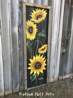screen hand painted ,wall art , indoor And outdoor art - PaintinG Pallet Painting, Pallet Art, Tole Painting, Painting On Wood, Pallet Ideas, Art Amour, Art Quilling, Sunflower Art, Sunflower Paintings