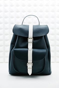 Grafea Opposites Attract Backpack in Navy and White