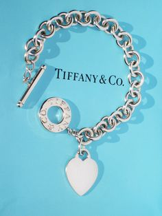 2fb704659 Tiffany & Co Sterling Silver Heart Tag Charm Toggle Bracelet #toggle # bracelet #