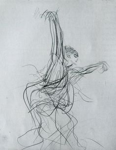 John Singer Sargeant : Sketch of a Spanish Dancer : 1879    Pencil on Paper : Gardner Museum,  Boston