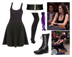 """""""Jade West- Nickelodeon's Victorious- The Slap Fight"""" by brainyxbat ❤ liked on Polyvore featuring Steve Madden, Forever 21, Topshop and Dorothy Perkins"""