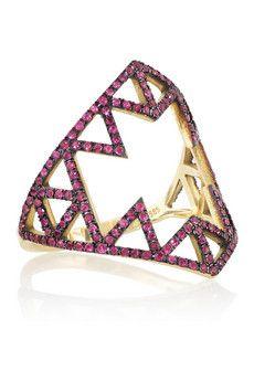 Lito Izel 14-karat gold ruby ring | NET-A-PORTER