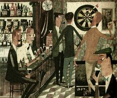 London Pub by M.Sasek (from 'This is London' 1959)