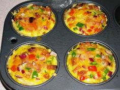 No time for a healthy tasty workday breakfast? Make-ahead individual ham, cheese & veggie frittatas. — The Taste Place