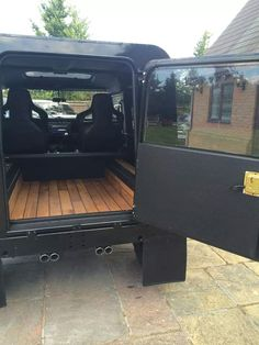 Land Rover Defender/Series – love the wooden floor. Land Rover Defender/Series – love the wooden floor. Defender 90, Land Rover Defender 110, Defender Camper, Land Rover Defender Interior, Landrover, Automobile, Range Rover, Land Cruiser, Cars Motorcycles