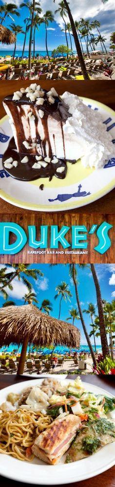 Duke's Waikiki restaurant review in Honolulu - you have to try the Hula Pie! Hawaii Honeymoon, Oahu Hawaii, Hawaii Travel, Hawaii 2017, Blue Hawaii, Oahu Vacation, Vacation Spots, Vacation Ideas, Dukes Waikiki