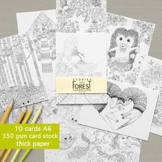 Coloring Book INSTANT DOWNLOAD Stories From Forest Adult
