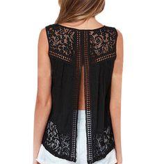 Summer Fashion Women Lace Vest