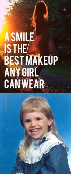 A #smile is the best #makeup a #girl can #wear #LetsGetWordy