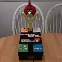 Ryker would love!!! Angry birds valentine box