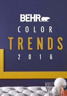 It's every interior designer's favorite time of the year—the release of BEHR 2016 Color Trends! From deep, bold hues to bright, colorful accents, this year's paint colors are filled with high-contrast style. Colour Pallete, Colour Schemes, Color Trends, Room Colors, House Colors, Interior Paint Colors, Interior Design, Web Design, Design Trends