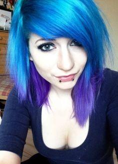 Short blue-dyed