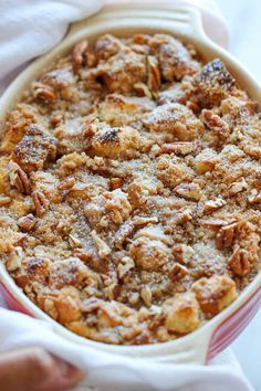 Baked pumpkin cream cheese french toast